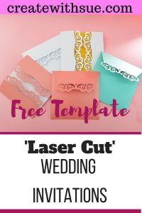 Laser Cut Wedding Invitation Pinterest pin