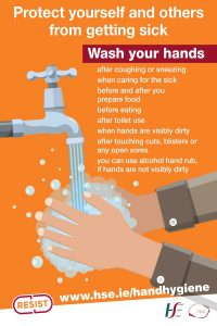 Coronavirus - Hand Washing (HSE) Sign