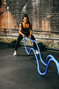 home gym battle rope