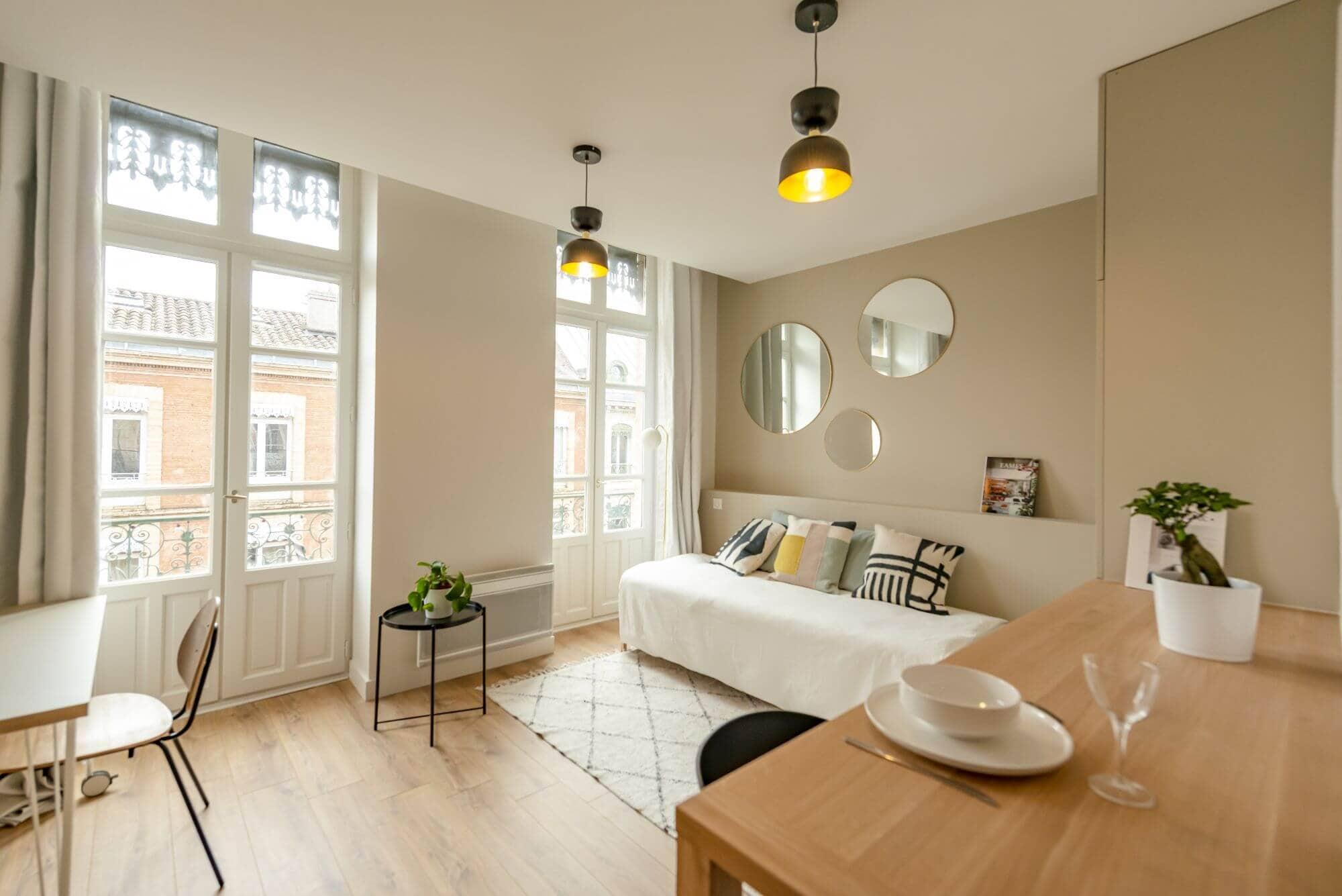 Salon, Rénovation, Appartement refait, Quartier Esquirol, Architecture d'intérieur