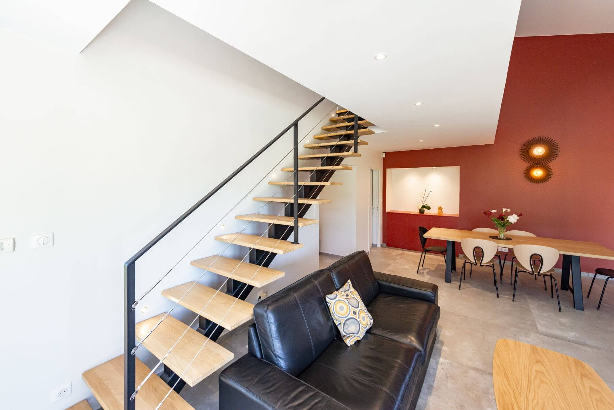 Espace vie, Escalier, Cuisine, Salon
