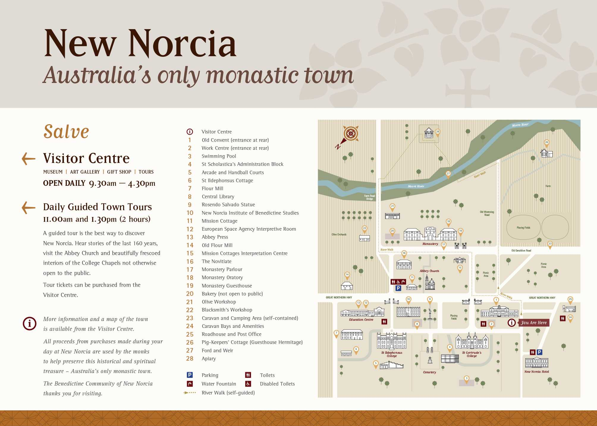 New Norcia Town Map