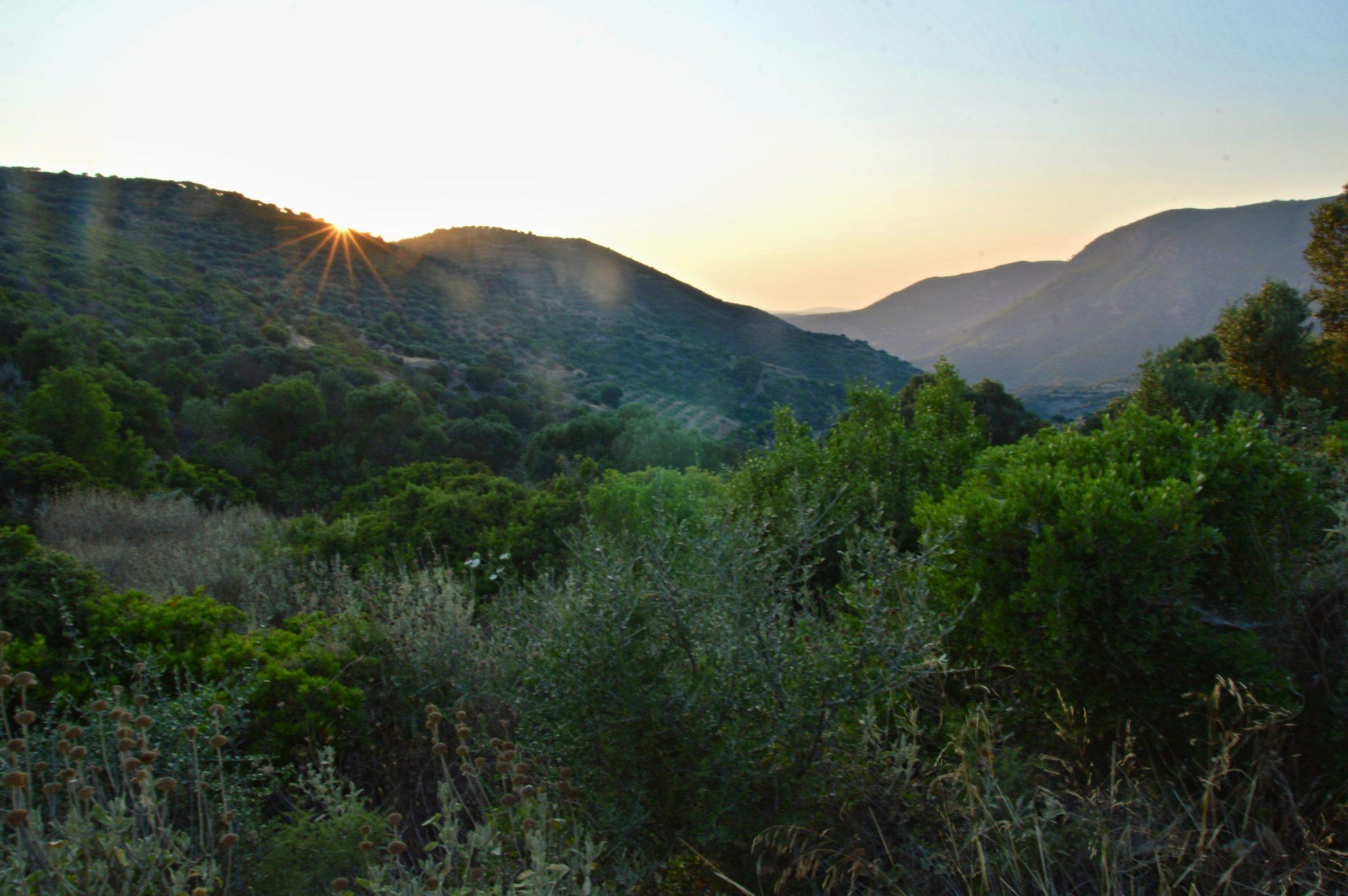 Sunset at Akrotirio Akritas, Messinia, Greece