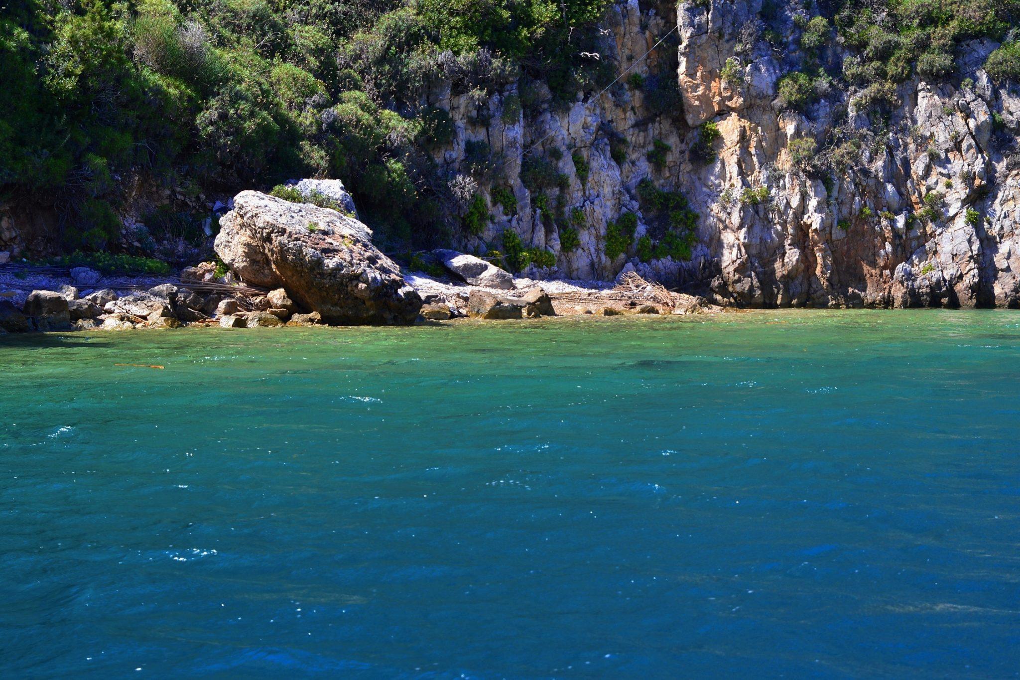 Boat trip around the Navarino Bay, Messinia, Greece