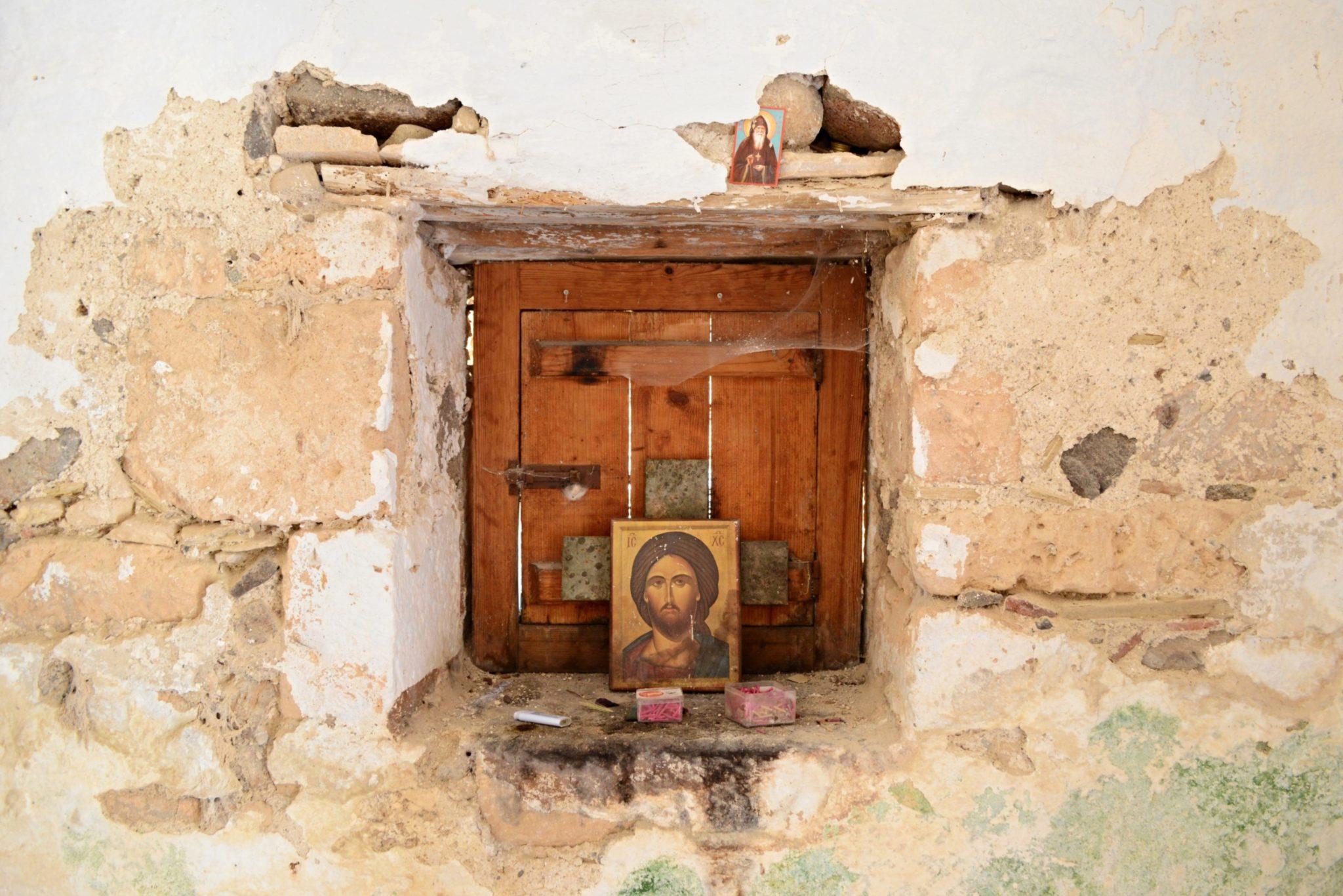 Church interior in Paleochora in Aegina Island, Greece