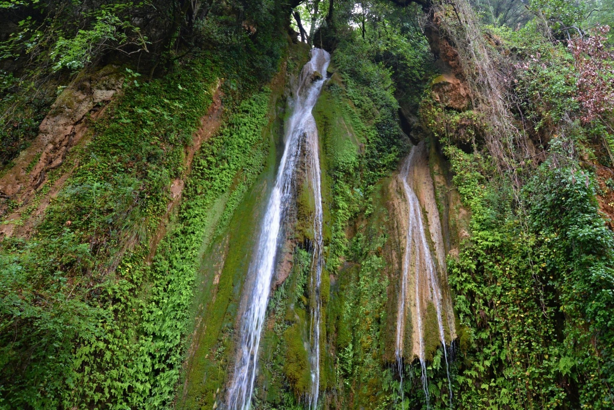 Waterfalls of Nemouta on the borders of Ilia and Arcadia, Peloponnese, Greece