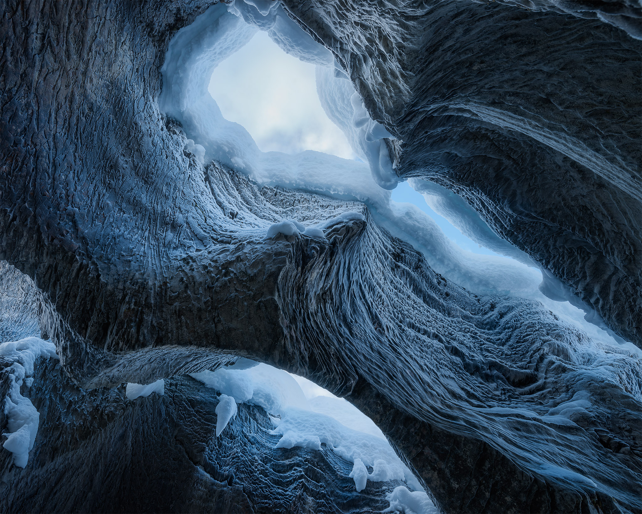 Landscape Photography of a rock formation at Natural Bridge near Emerald Lake in Yoho National Park, British Columbia
