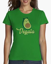 "Camiseta para mujereres veganas con el texto mensaje: ""Vegata"""