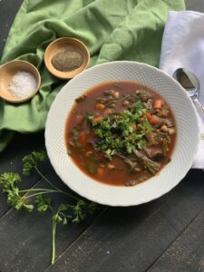 I made this black eyed pea soup when my daughters were home from college for the holidays and everyone raved about it.