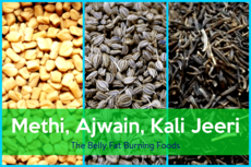 Methi Ajwain Kali Jeeri The Belly Fat Burning Foods