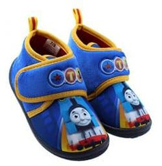 Thomas The Train Blue and Yellow Toddler Daycare Slippers