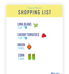 Farmers Market Shopping List