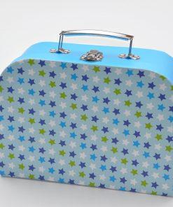koffertje met sterren blauw