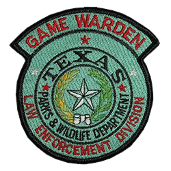 Texas Parks and Wildlife Law Enforcement emblem patch