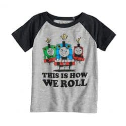 Thomas & Friends This is How We Roll Percy, Thomas & James Raglan Tee