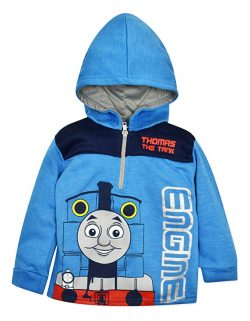 Thomas The Tank Engine Boys' Fleece Hoodie Pullover Sweatshirt with Zipper