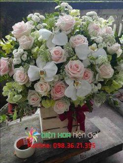 Giỏ hồng tươi Mama Love - DH325