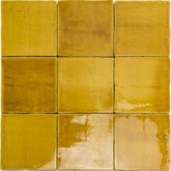 Wandtegels | Oud Hollandse handvorm tegels oker geel 13x13