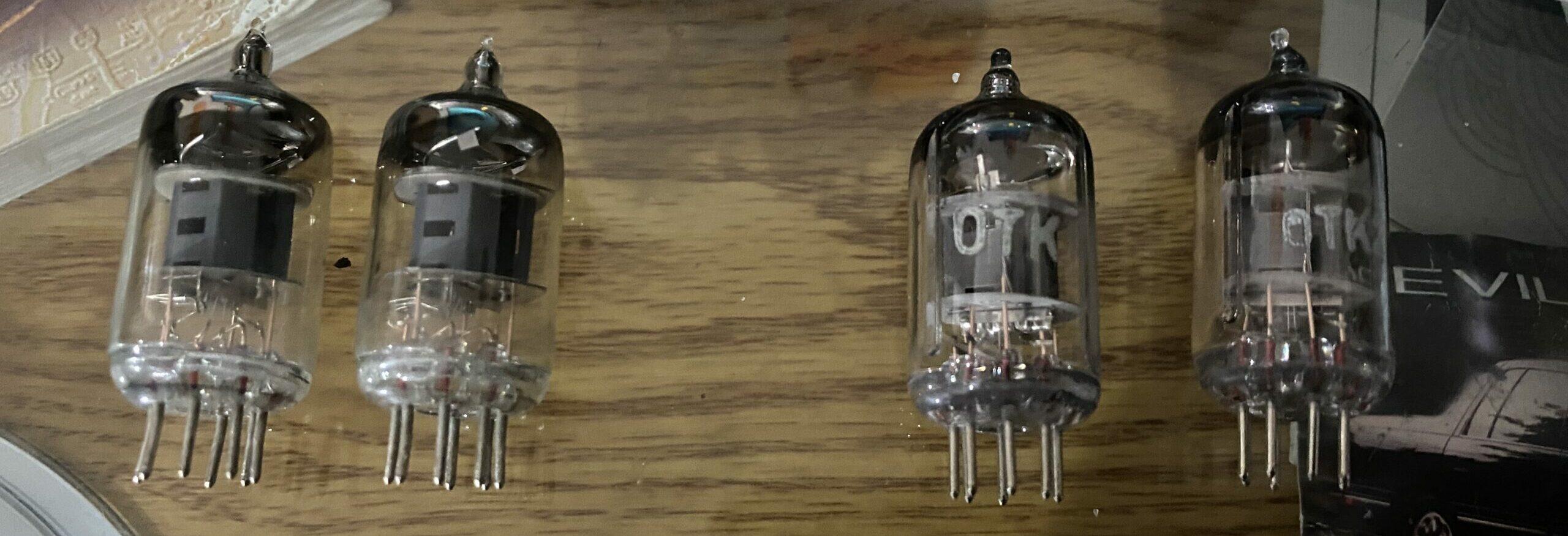 Stock 6J1 Tubes (Left) VS Voskhod 6J1P-EV Tubes (Right)