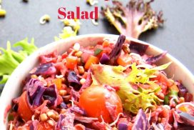 vegetable and sprouts salad