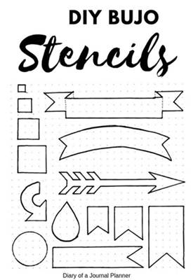 bullet journal stencil free printable stencils