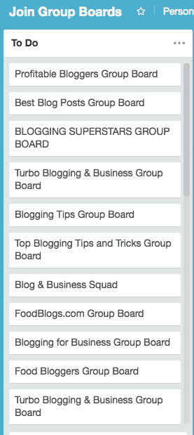 Join Group Boards - to do