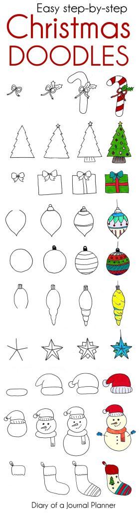 Bullet Journal Christmas Doodles