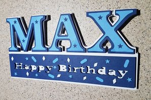 Creative ideas for Projects -Max Birthday Card