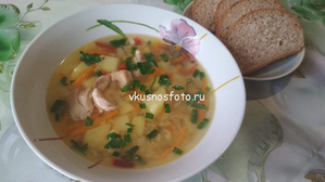 Суп из красной чечевицы с курицей