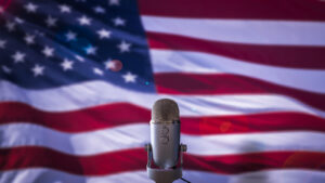 Buford T. America,Big Hoss, US Flag And Microphone