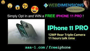 Win a FREE IPHONE 11 PRO