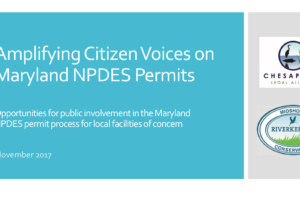 WEBINAR PRESENTATION – Participation in Maryland's NPDES Process