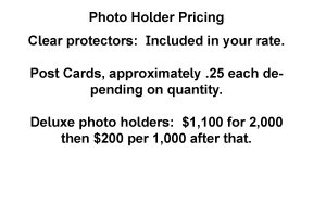 Photo holder pricing