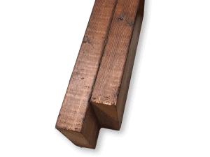poutre de balcon en bois trai