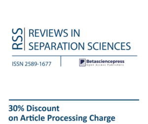 Reviews in Separation Sciences RSS Discount Betasciencepress