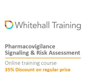 Whitehall Online Training Course Discount Pharmacovigilance