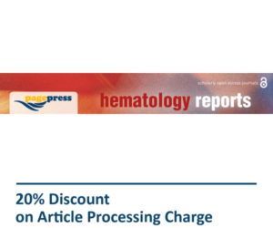 Hematology Reports Pagepress Journal Discount