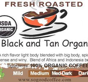 Black and Tan Organic Coffee