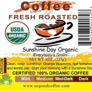 Sunshine Day Organic Coffee