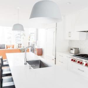 clean white modern kitchen
