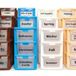 storage containers with labels