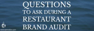 restaurant brand audit