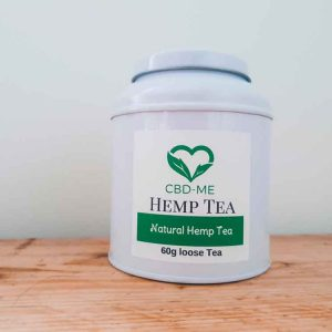white tea tin loose Natural Hemp Tea - 100% Hemp goodness