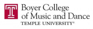 Temple University's Boyer College of Music and Dance logo