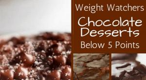 decadent Weight Watchers chocolate desserts