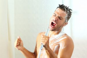 singing shower english
