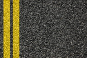 double yellow lines on highway