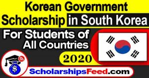 Korean Government Scholarship Program 2020