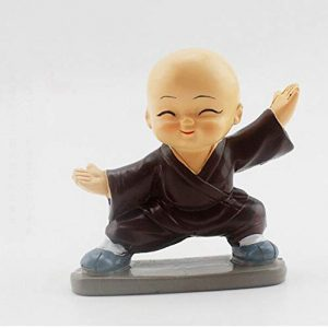 Cute Small Kung Fu Monks Figure for Decoration