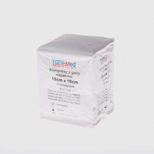 Trans-Med kompresy z gazy 10cm x 10cm
